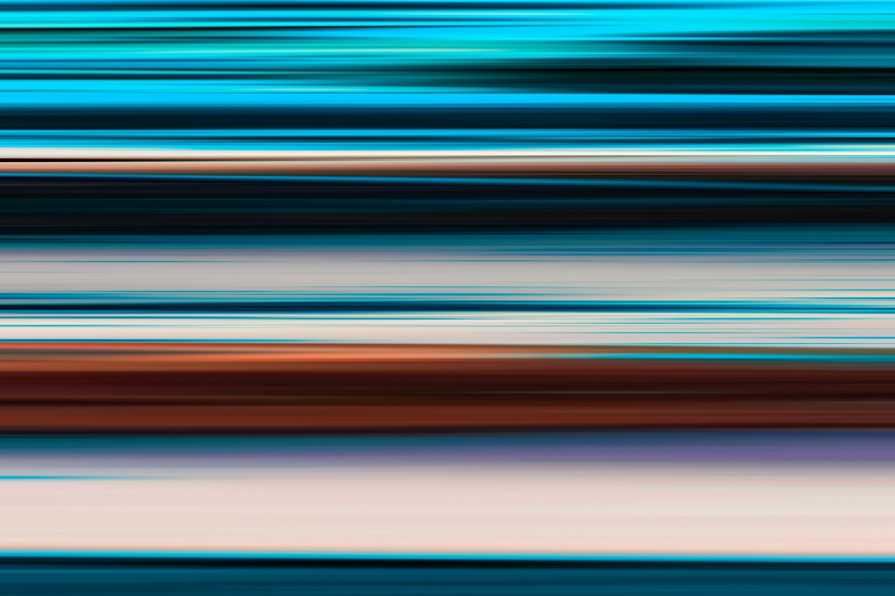 horizontal motion blur color abstract background stripes
