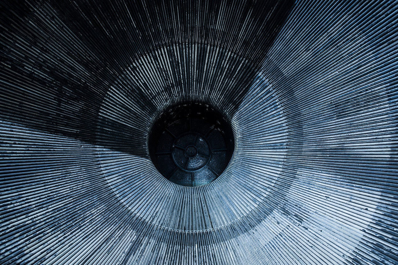 Close Up of Space Rocket Engine