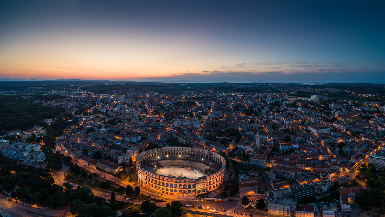 Panoramic view of Pula, Croatia